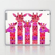 Giraffes – Magenta Ombré Laptop & iPad Skin