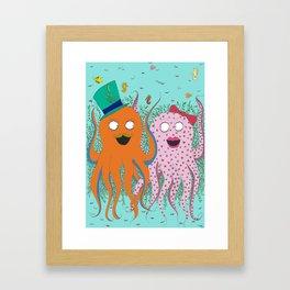 Octopus I love you Framed Art Print