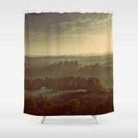 italy Shower Curtains featuring Tuscany, Italy by janisratnieks