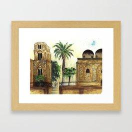 Palmes Framed Art Print