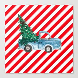 Christmas Tree Delivery Canvas Print