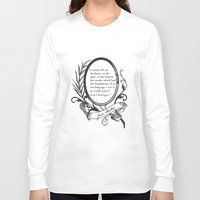 """jane austen Long Sleeve T-shirts featuring Jane Austen """"In the Middle"""" by ArtSoElectric"""