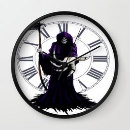 The Grim Reaper Wall Clock