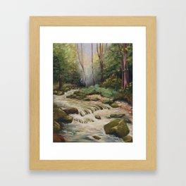 In the shade of the undergrowth Framed Art Print