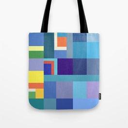 Blue Checker Pattern Tote Bag