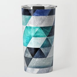 0001 // Cold Shapes // Isometric Grid Travel Mug