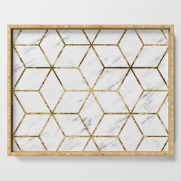 Gatsby golden marble Serving Tray