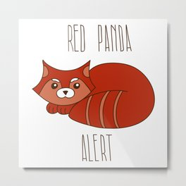 Funny little abstract red panda Metal Print