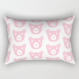 Cute pink bear illustration Rectangular Pillow