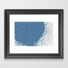 Blue Burts Framed Art Print