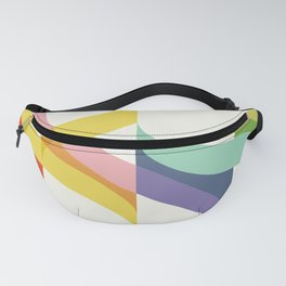 Rainbow Waves Fanny Pack
