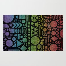 Modern Elements with Spectrum. Rug