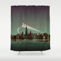 gotham Shower Curtains featuring Gotham City by WyattDesign