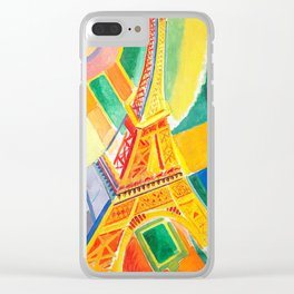 Robert Delaunay - Tour de Eiffel - Eiffel Tower - Abstract Colorful Art Clear iPhone Case