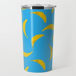Banana Yellow Sky Blue Travel Mug