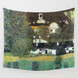 """Gustav Klimt """"Schloss Kammer on the Attersee II"""" Wall Tapestry"""