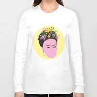 frida Long Sleeve T-shirts featuring Frida by Emmanuelle Ly