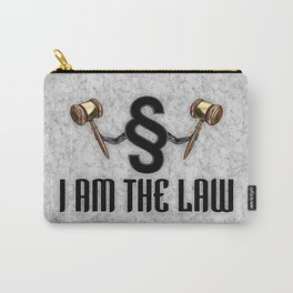 I am the law / 3D render of section sign holding judges gavels Carry-All Pouch
