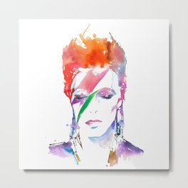 zig david bowie art color Metal Print