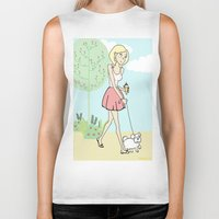 icecream Biker Tanks featuring Icecream by Marisa Marín