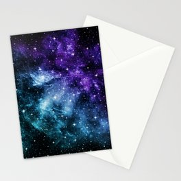 Purple Teal Galaxy Nebula Dream #1 #decor #art #society6 Stationery Cards