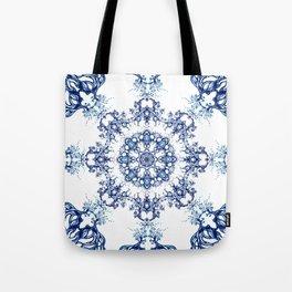 blue garden mandala Tote Bag