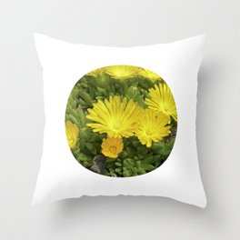 yellow cactus bloom IV Throw Pillow