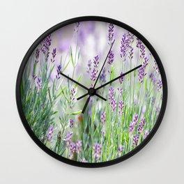 #Lavender in #Summer #garden #dreams Wall Clock