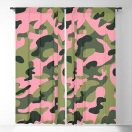 Green & Pink Camo Blackout Curtain