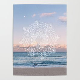 Twilight surf mandala Poster