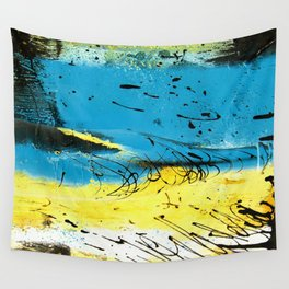 Yellow Drains Wall Tapestry