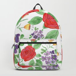 Watercolor floral pattern .8 Backpack