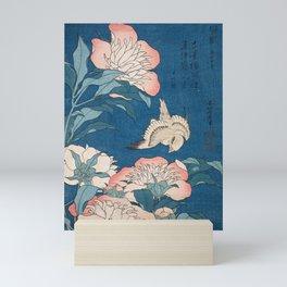 Katsushika Hokusai - Peonies and Canary, 1834 Mini Art Print