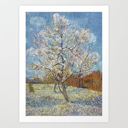 Peach Trees in Blossom by Vincent van Gogh Art Print