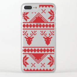 Christmas Sweater Clear iPhone Case