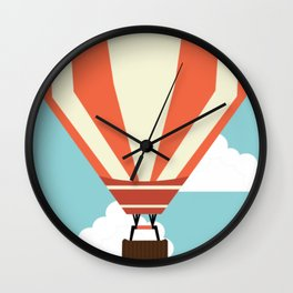 Balloons in the Sky Wall Clock