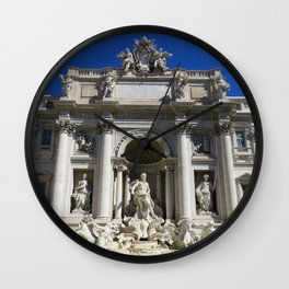 Fontana di Trevi al sole Wall Clock