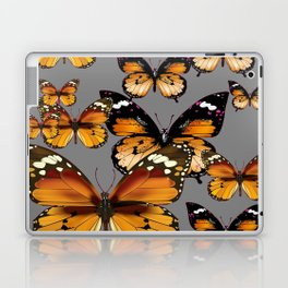 DECORATIVE BUTTERSCOTCH & TOFFEE BROWN BUTTERFLIES ART Laptop & iPad Skin