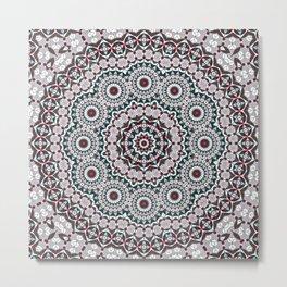 Winter Mandala Metal Print
