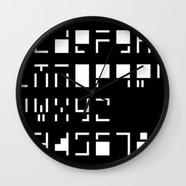 Alphanumerique Wall Clock