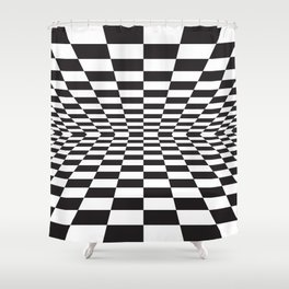 Black and white back and forth - Optical game 15 Shower Curtain