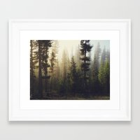 sunrise Framed Art Prints featuring Sunrise Forest by Kevin Russ