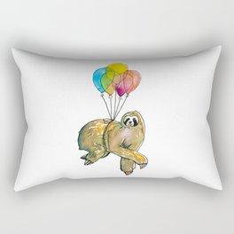 cute sloth in balloons Rectangular Pillow