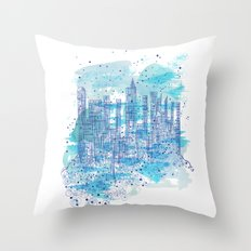 Water city Throw Pillow