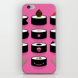 Pick yours - vibrant illustrated sushi artwork iPhone Skin