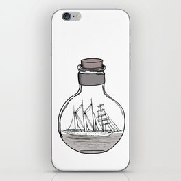 the ship in the bulb . illustration . iPhone Skin