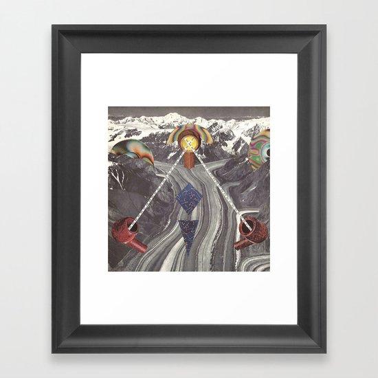 goofbutton collaboration #8 Framed Art Print