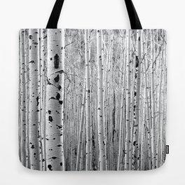 Aspen Tree Maze Tote Bag