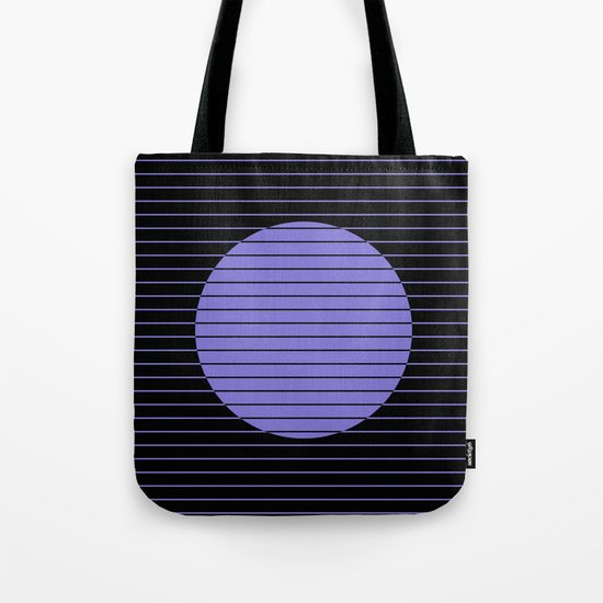 Difference (Minimalistic, pastel blue and black, geometric design) Tote Bag