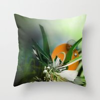 angel Throw Pillows featuring Angel by Andre Villanueva